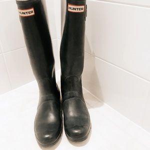 Hunter Original Tall Rain Boots Navy